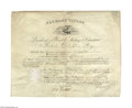 Autographs:U.S. Presidents, Zachary Taylor - Military Appointment Document Signed...