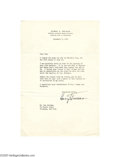 Autographs:U.S. Presidents, Harry Truman Typed Letter Signed, Personal Content 1955...