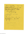 Autographs:U.S. Presidents, An Unusual Combination of Signatures, Including Harry S. Truman,Bess Truman, Lyndon and Lady Bird Johnson, Omar Bradley, Eddie ...