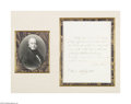 Autographs:U.S. Presidents, Martin Van Buren Concerning a Treaty With the Republic of Texas...