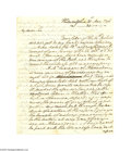 Autographs:U.S. Presidents, George Washington Autograph Letter Signed as President...
