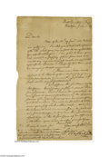 Autographs:U.S. Presidents, George Washington Revolutionary War Letter Approving an Expeditionagainst the Seneca Indians, 1779...