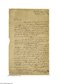 George Washington Revolutionary War Letter Approving an Expedition against the Seneca Indians, 1779 A very fine content...