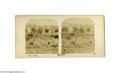 Autographs:Military Figures, Pierre G. T. Beauregard and George Cook Stereograph Photographs Signed...
