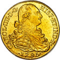Colombia, Colombia: Charles IV gold 8 Escudos 1795 NR-JJ MS62 PCGS,...