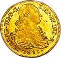 Colombia, Colombia: Ferdinand VII gold 8 Escudos 1811 P-JF MS62 PCGS,...