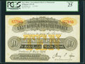 East Africa Government of the East Africa Protectorate 10 Rupees 1.5.1916 Pick 2A PCGS Very Fine 25