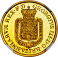 German States, German States: Hannover. George III of England gold Proof 5 Taler1813-TW PR64 Cameo NGC,...