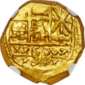 Colombia, Colombia: Charles II gold Cob 2 Escudos ND (1694-1714) MS64 NGC,...