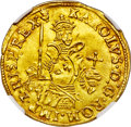Belgium, Belgium: Brabant. Charles V (1506-1555) gold Real d'or ND (1546-1556) MS63 NGC,...