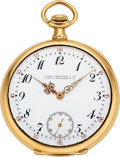 Timepieces:Pocket (post 1900), Patek Philippe Very Fine 18k Gold Pocket Watch. ...