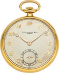 Timepieces:Pocket (post 1900), Patek Philippe 18k Gold Pocket Watch. ...