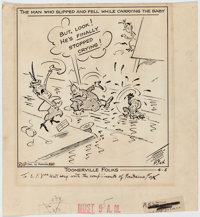 Fontaine Fox Toonerville Folks Daily Comic Strip Original Art dated 4-5-41 (McNaught Syndicate, 1941)