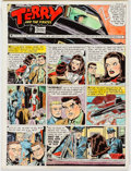 Original Comic Art:Miscellaneous, George Wunder Terry and the Pirates Color Guide Production Art dated 12-15-63 (News Syndicate Co., 1963)....