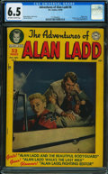 Golden Age (1938-1955):Adventure, Adventures of Alan Ladd #6 (DC, 1950) CGC FN+ 6.5 Off-white towhite pages.