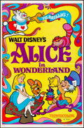 """Movie Posters:Animation, Alice in Wonderland (Buena Vista, R-1974). Folded, Very Fine-. One Sheet (27"""" X 41"""") & French Lobby Card Set of 14 (11.75"""" X... (Total: 15 Items)"""
