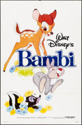 "Movie Posters:Animation, Bambi & Other Lot (Buena Vista, R-1982). Folded, Overall Grade: Fine/Very Fine. One Sheets (2) (27"" X 41""). Animation.. ... (Total: 2 Items)"