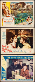 """Movie Posters:War, The Hour Before the Dawn & Others Lot (Paramount, 1944). LobbyCards (3) (11"""" X 14""""), German Lobby Cards (3) (9.25"""" X 11.5"""")...(Total: 10 Items)"""