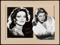 "Movie Posters, Lauren Bacall (1970s). Matted Autographed Publicity Photo (12"" X16"").. ..."