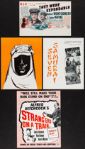 "Movie Posters:Foreign, The Seven Samurai & Others Lot (Films de France,1955). British Programs (3) (Multiple Pages, 8"" X 10"", 8.5"" X 11""), Uncut Br... (Total: 6 Items)"