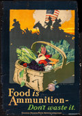 """Movie Posters:War, World War I Propaganda Lot (United States Food Administration,1917) Rolled, Good+. Posters (2) (20"""" X 29""""& 20.5"""" X 29"""")""""Fo... (Total: 2 Items)"""