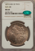 Morgan Dollars, 1879-S $1 Reverse of 1878 MS64 NGC. CAC. A Top 100 Variety. NGC Census: (247/19). PCGS Population: (576/61). CDN: $1,600 Wh...