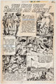 """Fred Ray Tomahawk #128 Complete 1-Page Story """"The Ruse that Routed an Army!"""" Original Art (DC, 1970)"""