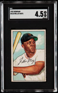 Baseball Cards:Singles (1950-1959), 1952 Bowman Willie Mays #218 SGC VG/EX+ 4.5....
