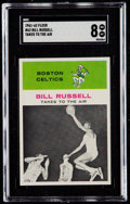 Basketball Cards:Singles (Pre-1970), 1961 Fleer Bill Russell IA #62 SGC NM/MT 8....