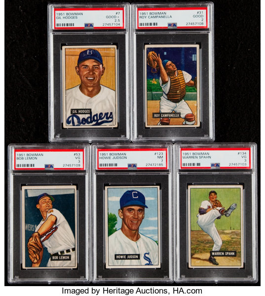 Baseball CardsLots 1951 Bowman PSA Graded Collection 5