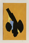 Prints & Multiples:Print, Robert Motherwell (1915-1991). Delos, 1991. Lithograph in colors on TGL handmade paper. 36-1/2 x 23-3/8 inches (92.7 x 5...