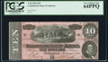 Confederate Notes:1864 Issues, T68 $10 1864 PF-27 Cr. 548 PCGS Very Choice New 64PPQ.. ...