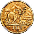 German East Africa:German Colony, German East Africa: German Colony. Wilhelm II gold 15 Rupien 1916-T AU55 NGC,...