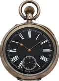 """Timepieces:Pocket (post 1900), Swiss """"The Scout"""" Patent 15229 Self Contained Quarter HourRepeater. ..."""
