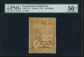 Colonial Notes:Pennsylvania, Pennsylvania October 1, 1773 50s PMG About Uncirculated 50 EPQ.....