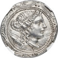 Ancients:Greek, Ancients: MACEDON. Under Roman Rule. First Meris. Ca. 167-149 BC. AR tetradrachm (30mm, 16.07 gm, 12h). NGC MS ★ 5/5 - 4/5....