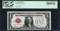 Small Size, Serial Number 00004484 Fr. 1500 $1 1928 Legal Tender Note. PCGSChoice About New 58PPQ.. ...