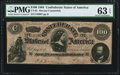 "Confederate Notes:1864 Issues, CT65/491 ""Havana Counterfeit"" $100 1864 PMG Choice Uncirculated 63 EPQ.. ..."