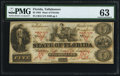 Obsoletes By State:Florida, Tallahassee, FL- State of Florida $5 Mar. 1, 1864 PMG Choice Uncirculated 63.. ...