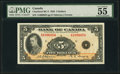 Canadian Currency, BC-5 $5 1935 PMG About Uncirculated 55.. ...