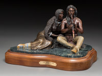 Michael Westergard (American, 20th Century) Love Song of the Plains, 1993 Bronze with polychrome