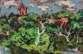 Post-War & Contemporary, Dan Lutz (American, 1906-1978). Allegan River View, 1951.Oil on Masonite. 11 x 14 inches (27.9 x 35.6 cm). Signed and d...