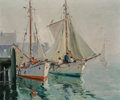 Fine Art - Painting, American, Anthony Thieme (American, 1888-1954). Foggy Day. Oil oncanvas. 20-1/4 x 24 inches (51.4 x 61.0 cm). Signed lower right:...