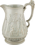 Antiques:Black Americana, Uncle Tom's Cabin Stoneware Pitcher....