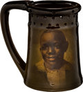 Antiques:Black Americana, A Rookwood Standard Glaze Ceramic Portrait of African AmericanBoy Puzzle Mug by Bruce Horsfall....