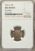 1897-O 10C -- Cleaned -- NGC Details. UNC. NGC Census: (0/44). PCGS Population: (1/79). CDN: $900 Whsle. Bid for problem...