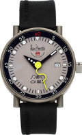 "Timepieces:Wristwatch, Alain Silberstein, ""Klub"" Automatique, Titanium, Limited Edition Automatic, No. 077/500, Circa 1990s. ..."