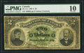 Canadian Currency, DC-11-i $2 1887 A Series PMG Very Good 10. The...