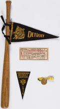 Baseball Collectibles:Others, 1934 Detroit Tigers World Series Lot (5 Items)....