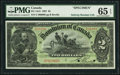 Canadian Currency, DC-14cS $2 2.7.1897 Specimen PMG Gem Uncirculated 65 EPQ.. ...